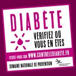 5è Semaine nationale de prévention du diabète du 3 au 10 Juin 2016
