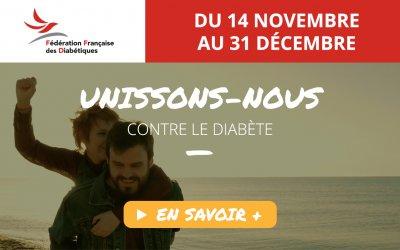 Unissons-nous contre le diabète – grande opération de mobilisation [14 Nov 2016]
