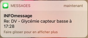 alerte par SMS