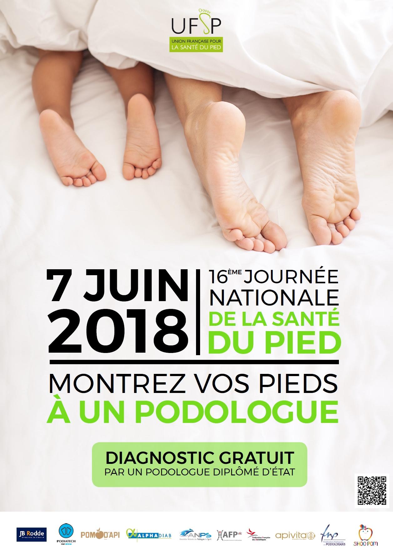 affiche journée nationale de la santé du pied